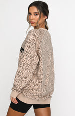 Speckle Oversized Sweater Sand