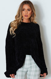 Over The Moon Knit Black