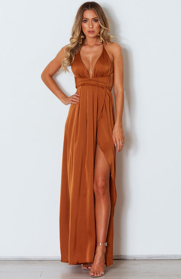 Akela Maxi Dress Rust