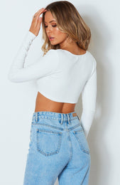 Chy Ribbed Crop White