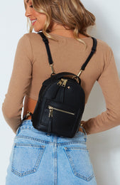 Zoe Mini Backpack Black