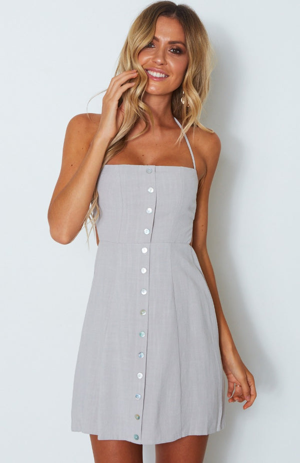 Free Spirit Dress Grey