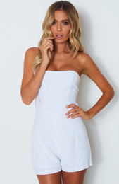 Girl Like You Playsuit White