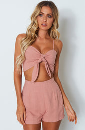 High Tides Crop Terracotta Rose