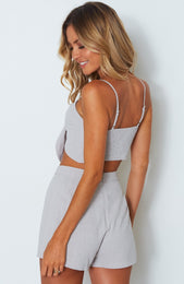 High Tides Crop Grey