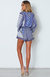 Adilah Playsuit Medina Blue