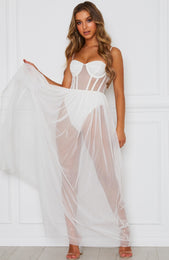 Modern Muse Maxi Dress White