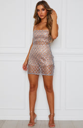 Envy Mini Dress Silver