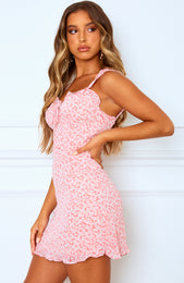 Sweet Fling Mini Dress Pink Floral