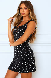 Cool With It Mini Dress Black Polka Dot