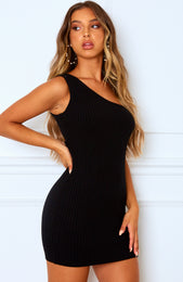 Break Up Mini Dress Black