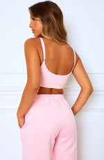 No Sweat Crop Pink