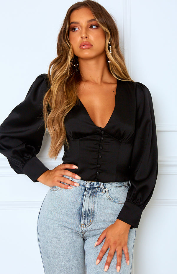 Mariella Crop Black