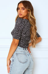 Golden Age Crop Black Print