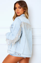 Royalty Denim Jacket Washed Blue Denim