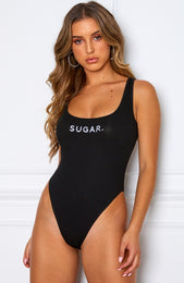 Sweet Like Bodysuit Black