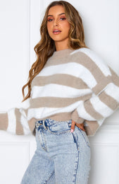 Mind Over Matter Knit Nude Stripe