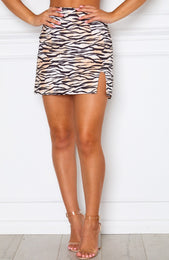 Places To Go Mini Skirt Zebra Print