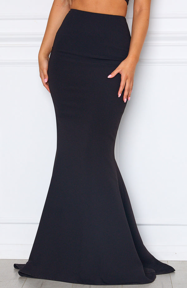 Steal The Night Maxi Skirt Black