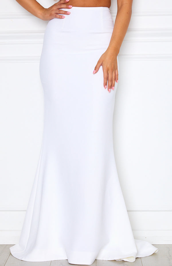 Steal The Night Maxi Skirt White