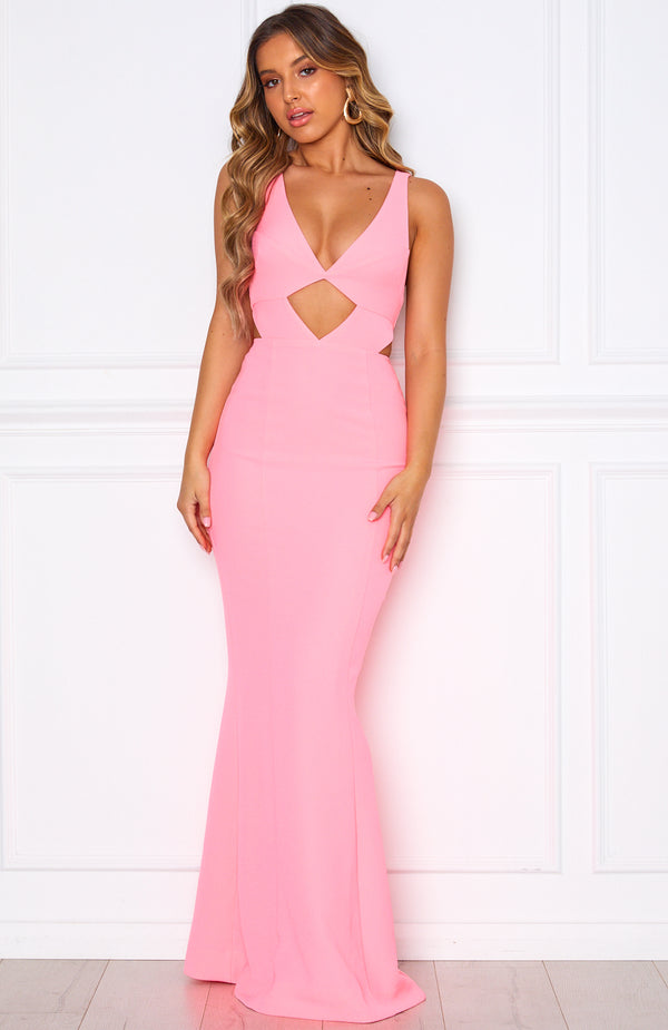 Cannes Gown Neon Pink