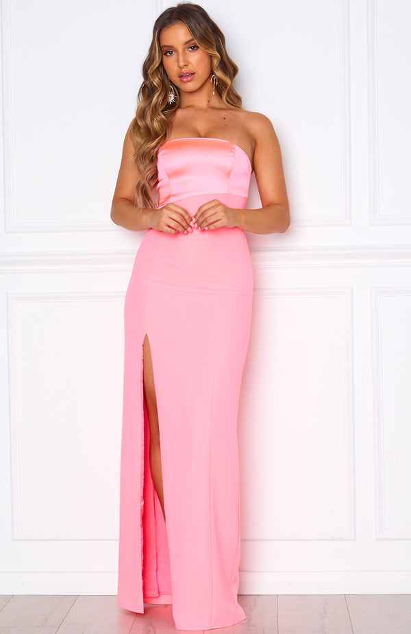 Gala Gown Neon Pink