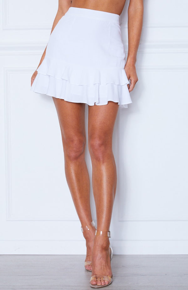 Au Revoir Mini Skirt White