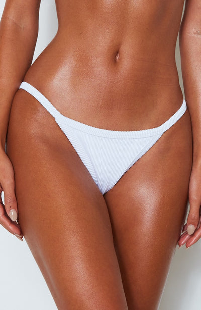 Sofia Bottoms White Rib