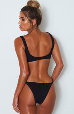 Palm Springs Bikini Top Black Rib