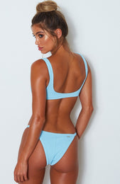 Palm Springs Bikini Top Baby Blue Rib