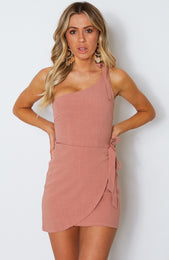 Right On Time Dress Terracotta Rose