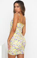 New To This Mini Dress Yellow Floral