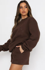 Best Of Both Oversized Sweater Chocolate