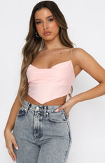 Love Lessons Crop Baby Pink