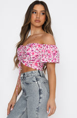 The New Way Crop Fuchsia Floral