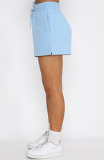 Along For The Ride Lounge Shorts Ice Blue