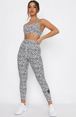 Down For It Leggings White Leopard