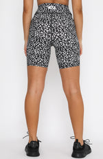 Don't Go Back Bike Shorts Black Leopard