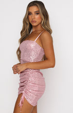 Gold Rush Mini Dress Rose
