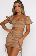 Perfect Match Mini Skirt Tan