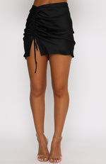 Hooked On You Mini Skirt Black