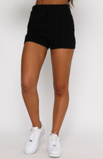 Get It Right Knit Shorts Black