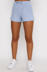 Lazy Daze Knit Shorts Blue