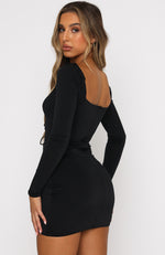 Waste No Time Mini Dress Black