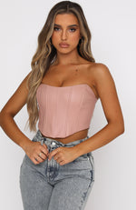 I Need You Bustier Dusty Pink