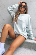 If You Stay Long Sleeve Tee Sage