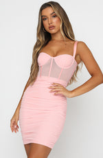 Push The Boundaries Mini Dress Blush