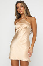 Lights On Mini Dress Champagne