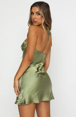 Lights On Mini Dress Khaki