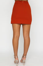 In Focus Mini Skirt Rust